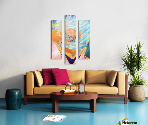 Abstract Sunset - Illustration VI Canvas print