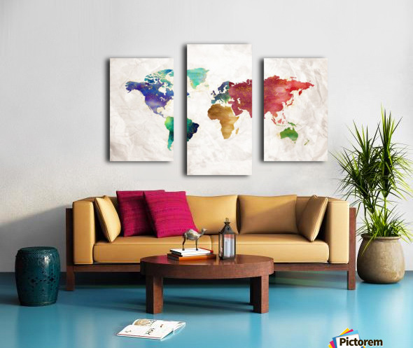 Artistic World Map II Canvas print