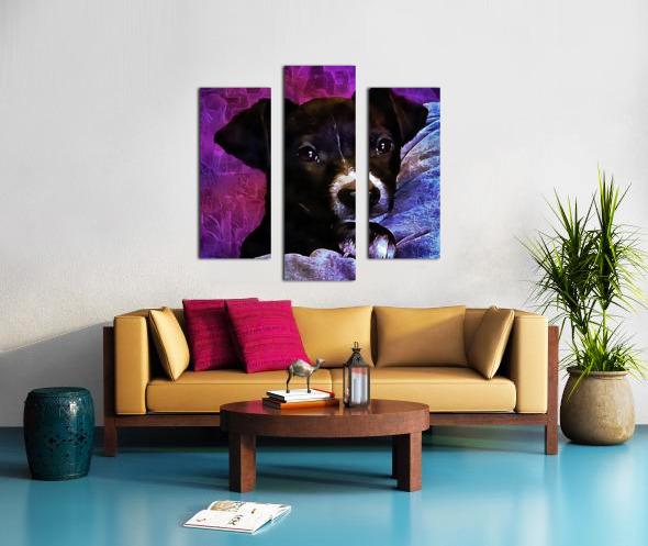 Soft Puppy Snuggles Canvas print