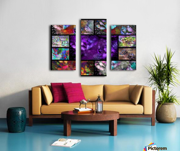 Crazy Paw Print Collage Canvas print