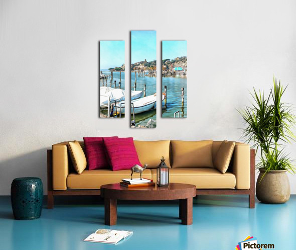 Moored Boats at Passignano Canvas print