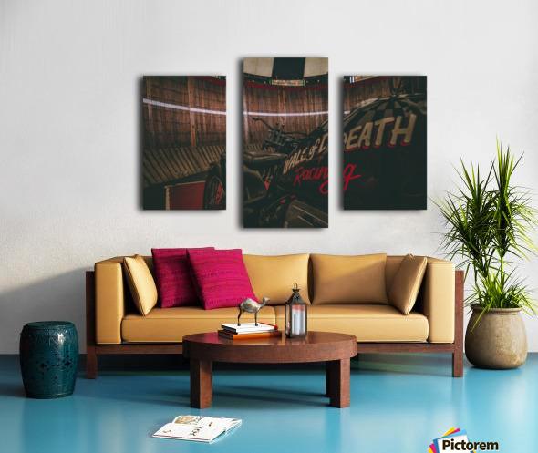 Wall of death Harley Davidson Canvas print