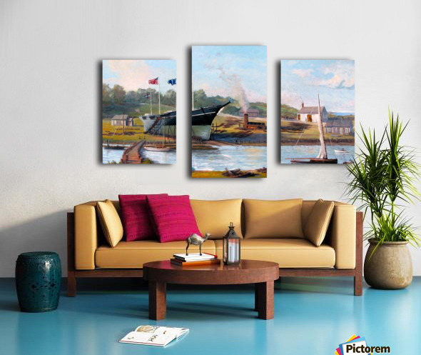 Building Belle of the West Canvas print