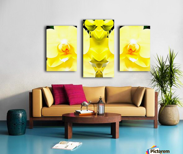 Yellow Orchid Pattern Canvas print