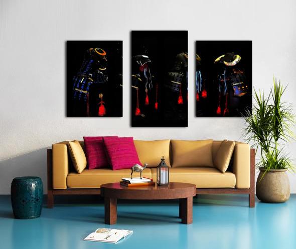 Memories of Samurai Black Armour Collage Canvas print