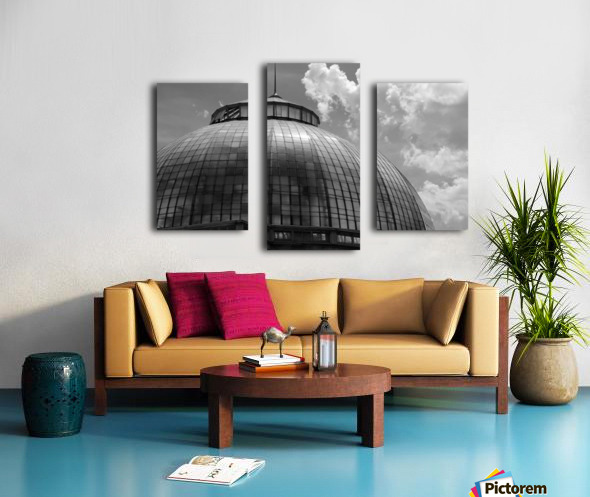 Belle Isle Conservatory Dome BW Canvas print