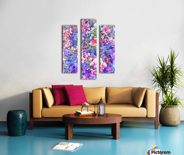 Pink and Blue Fusion Canvas print
