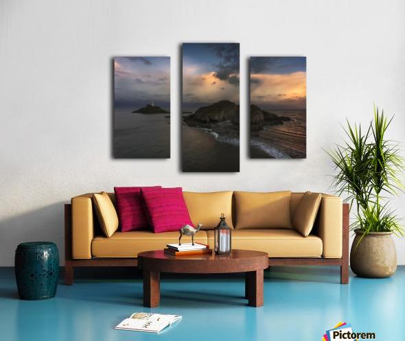 Dusk at Mumbles lighthouse Canvas print