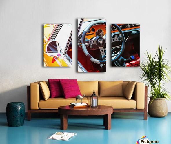 Lancia Fulvia Through The Window Canvas print
