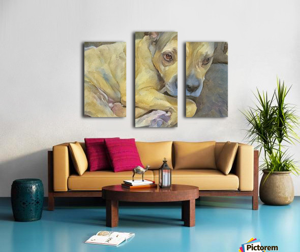 Watercolor dog painting Canvas print