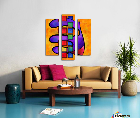 Desmelotipia - colourful cubes Canvas print