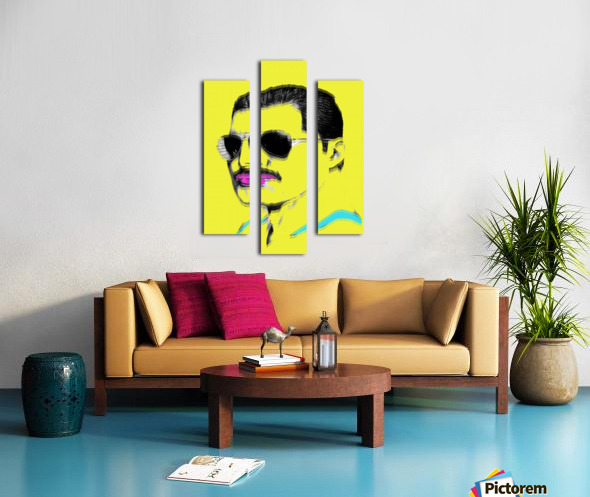 Yellow Freddie Mercury Canvas print