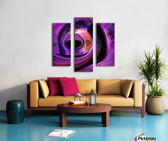 Abstract rendered artwork 3 Canvas print