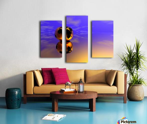 Golden Earth Canvas print