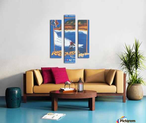 2000 RIP CURL PRO BELLS BEACH EASTER Surfing Championship Competition Print - Surfing Poster Canvas print