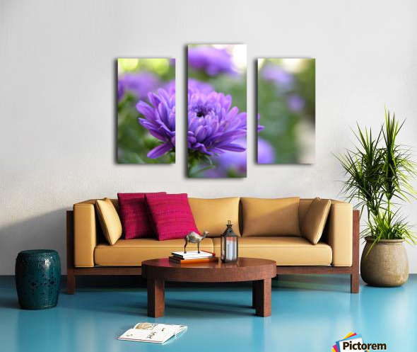 Blue Flower Photograph Canvas print
