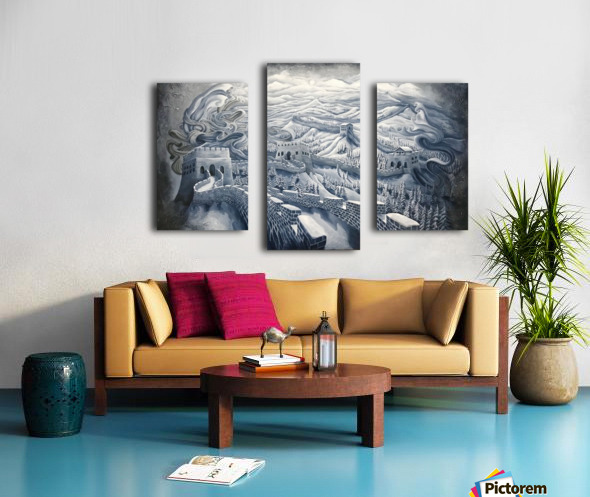 The first season of the Great Wall Canvas print