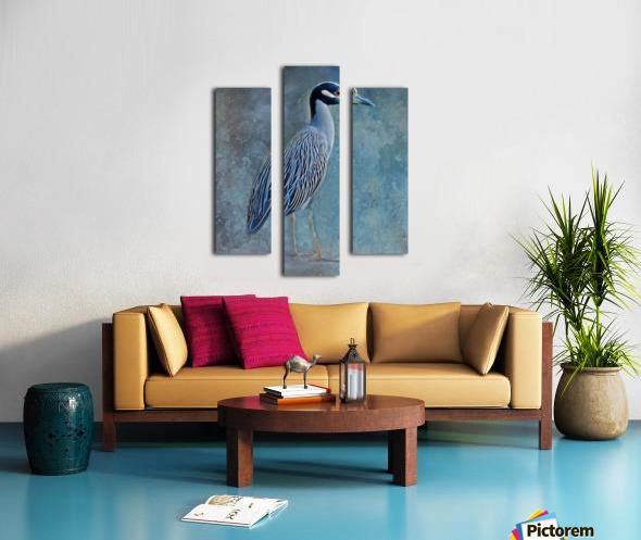 Night Heron Blues Canvas print