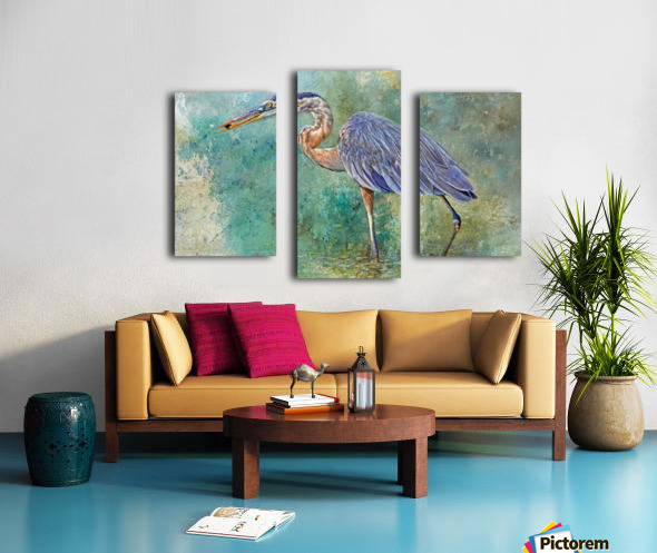 Fishing With Big Blue Canvas print