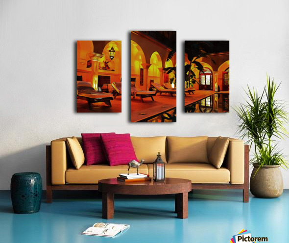 Riad At Night In Marrakech Canvas print