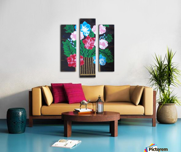 Flowers in box Canvas print