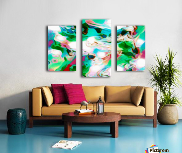Waterfall - multicolor abstract swirl wall art Canvas print