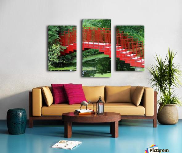 Dow Gardens Red Footbridge 062618 Canvas print