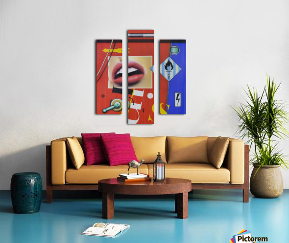 Blue Red Mouth Canvas print