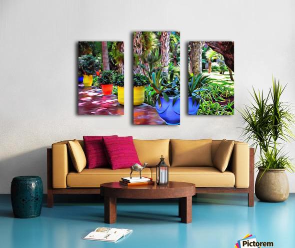 Colorful Plant Pots Marrakech 9 Canvas print