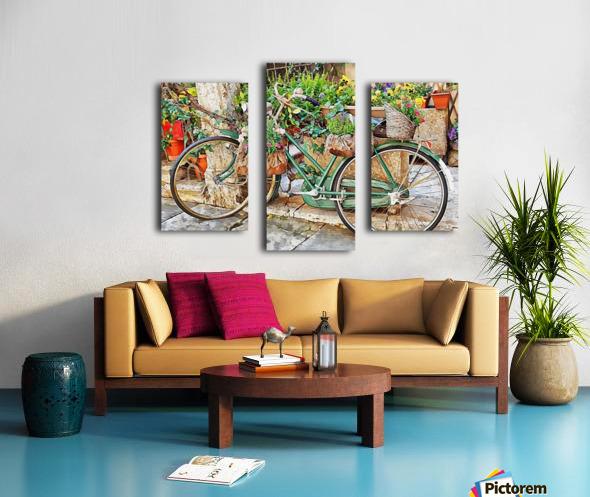 Decorative Bicycle In Cortona Canvas print
