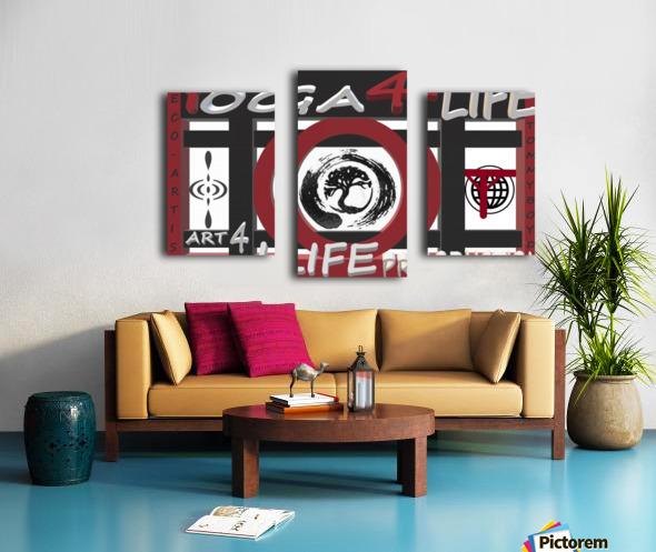 YOGA 4 LIFE   ECO ARTIST TOMMY BOYD Canvas print