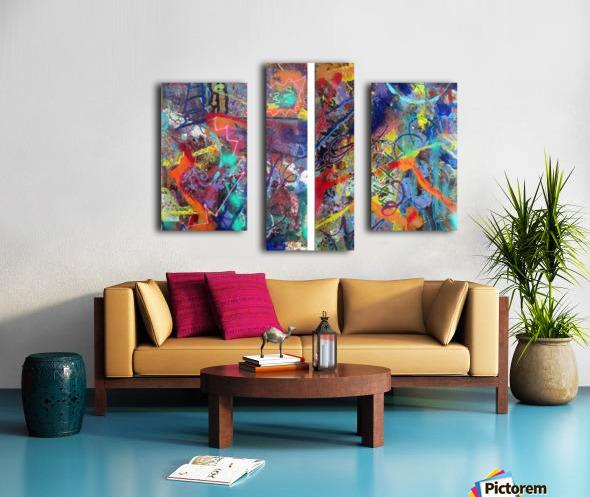 1 2 3 Hospital Ephemere Canvas print