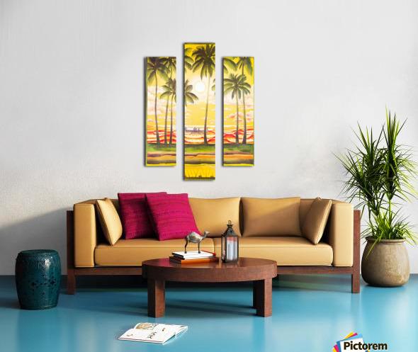 HAWAII TRAVEL POSTER Canvas print