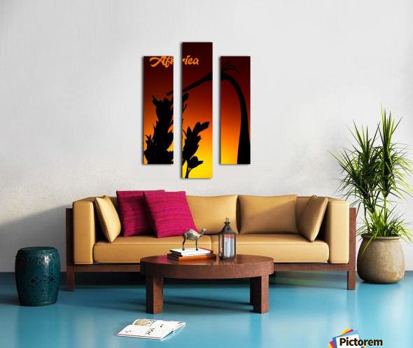 Africa sunrise Canvas print
