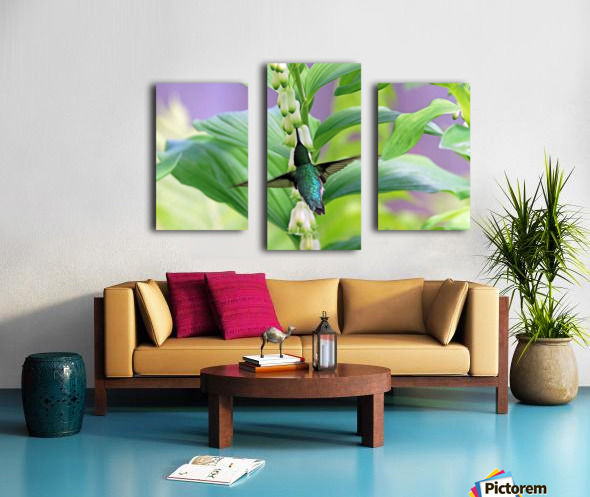Hummer And Solomon Seal Canvas print