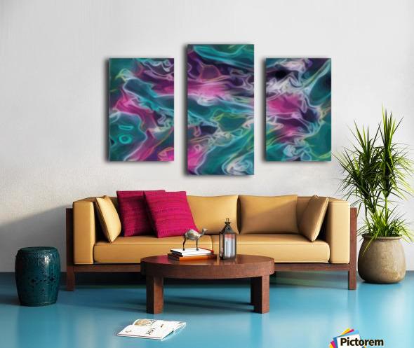 Feminine Waters - turquoise pink purple swirls Canvas print