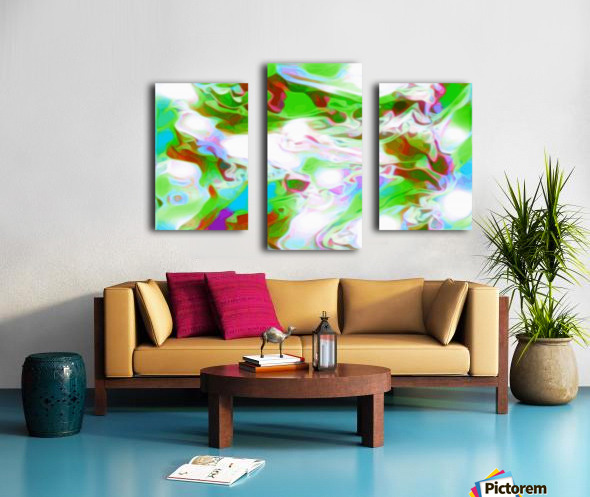 Green Glass Window - multicolor green abstract swirl wall art Canvas print