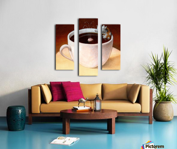 Coffee with milk Canvas print