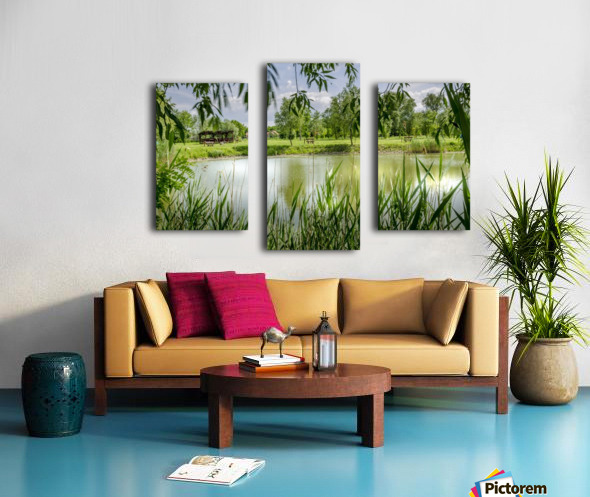 Summer Lake Canvas print