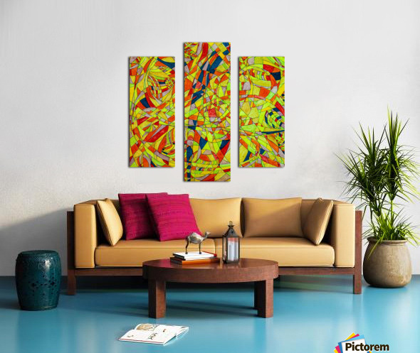 ABSTRACT SHAPES 10 Canvas print