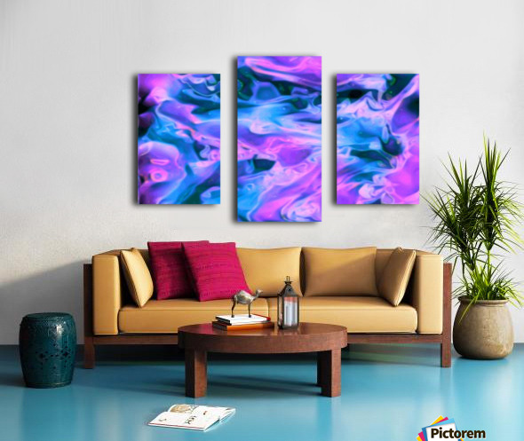 Purple Ice - purple blue abstract swirl wall art Canvas print