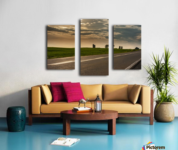 A twilight on the road Impression sur toile
