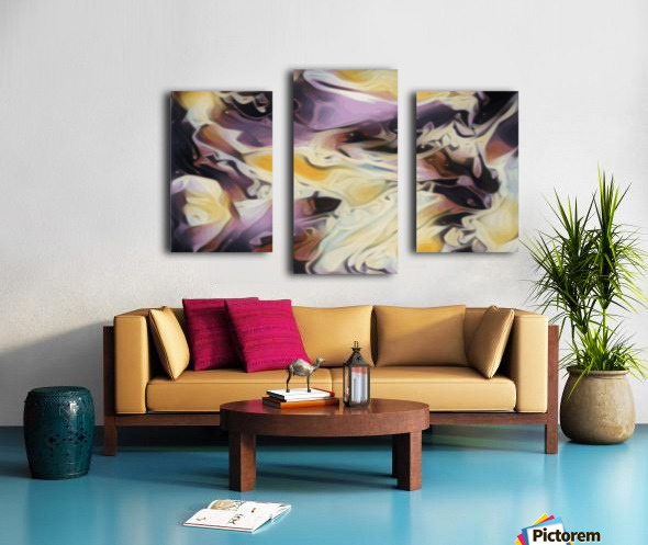 Cosmic - multicolored abstract swirl wall art Canvas print
