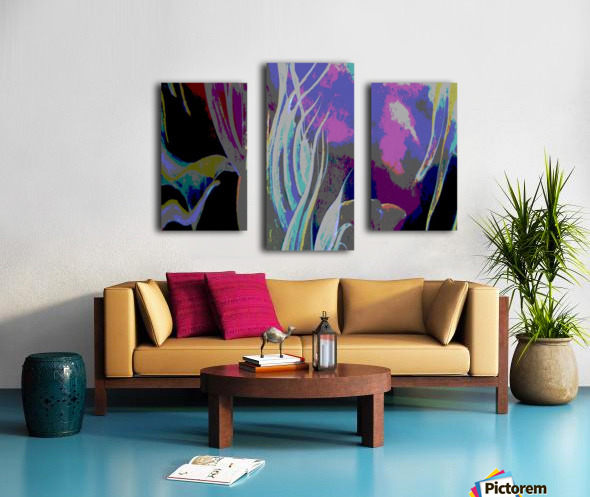 Colorful Melody Waves Canvas print