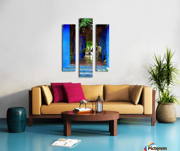 Shady Blue Walkway Marrakech Canvas print