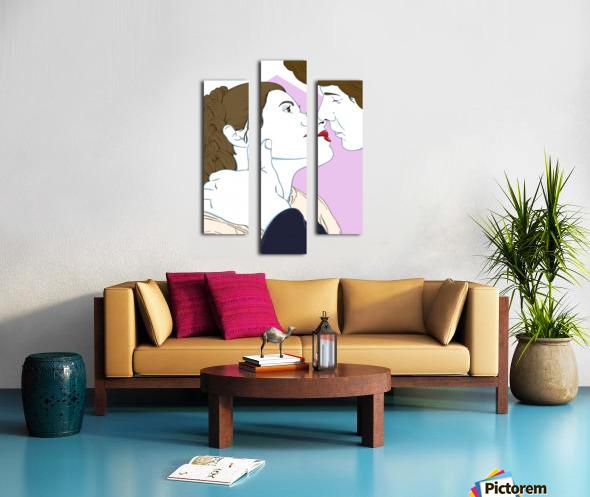Scoundrel's Kiss Canvas print