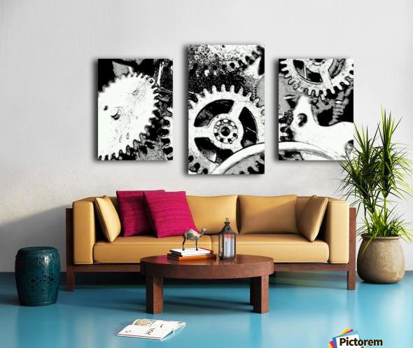 Gear Space Canvas print