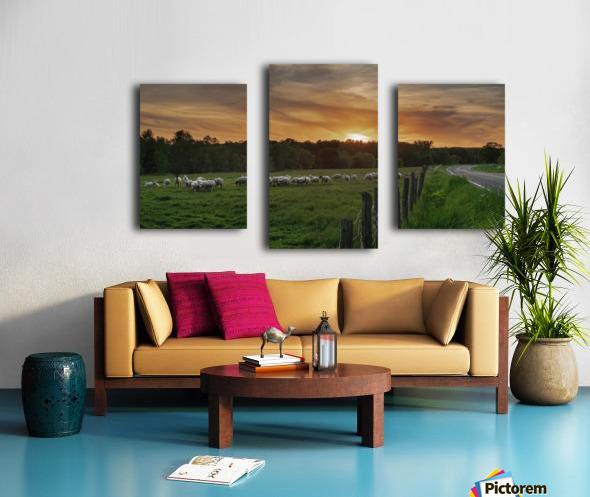 Au soleil couchant  Canvas print