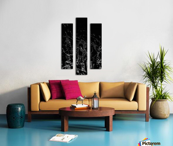 Infinite - black white gradient polygons swirls large abstract wall art Canvas print