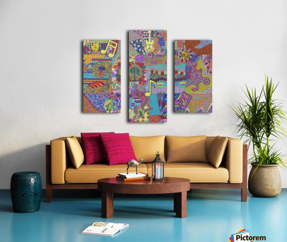 Jamming with Colour Canvas print